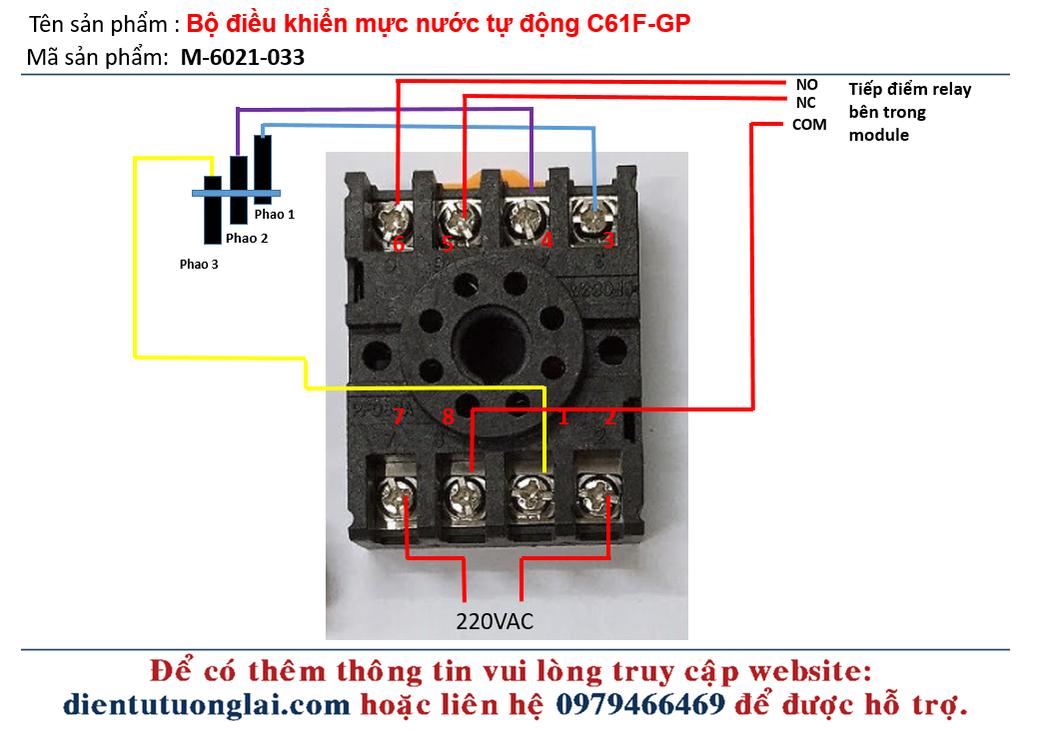 Bộ điều khiển mực nước tự động C61F-GP