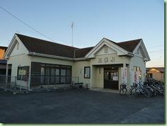 三妻駅改札(無人駅)