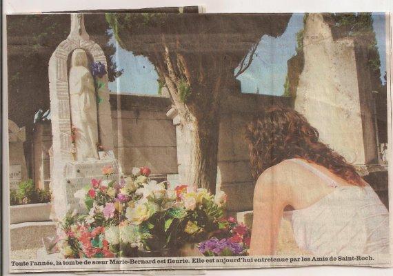 Tombe de Soeur Marie-Bernard Rouyer à Castres